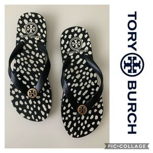 Tory Burch Sandals Flip Flops New Black Size 5.5